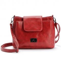 hand bags for Women Bag Brand Leather Handbags Bolsa Feminina Three Pocket And Style Crossbody Bags red one size