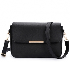 New Casual Women PU Leather Handbags Women Bag Messenger Bag Ladies shoulder Bag Clutch Bags black one size