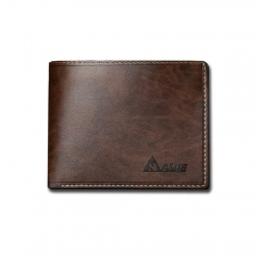 Vintage men short wallet cross section Student Wallet PU simple personality soft leather brown one size