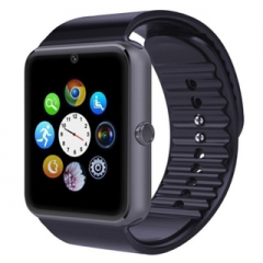 Smart Watch GT08 Phone Clock with Sim Card Slot Push Message Bluetooth WristWatch Android System Black