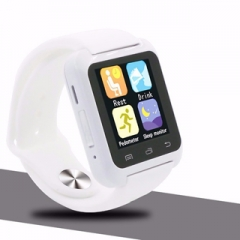 New bluetooth Smart watch u9  inte  wearable Wrist Watch for apple iPhone Samsung Android Phone White