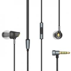 IPhone stereo headset ear headphones 3.5mm luxury headphones Samsung micro clear bass Black
