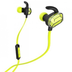 wireless bluetooth headset stereo ear phone headset earpiece 4.0 sport for iphone samsung Green