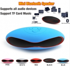 Rugby Blutooth Boombox Portable  Mini Wireless Bluetooth Speaker Music Audio for Infinix /Cubot Blue One size