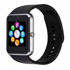 Smart Watch GT08 Phone Clock with Sim Card Slot Push Message Bluetooth WristWatch for Infinix /Cubot Silver