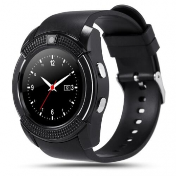 Smartwatch sport Watch Full Screen Smart Watches V8 Support TF SIM Card Bluetooth For Android black