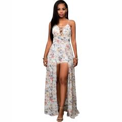 Chiffon Printed Sling Dress printing M