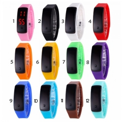 New Fashion LED Bracelet Digital Watches black for men&ladies&child Comfort Rubber