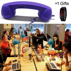Universal Radiation-proof Handset for All 3.5mm Jack CellphoneS & PC Ipad blue