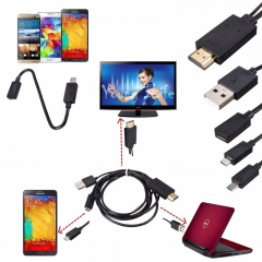 Universal Micro USB MHL To HDMI Cable HDTV Adapter For Android Smartphone