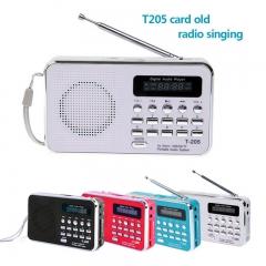 FM Radio Portable HiFi Card Speaker Digital Multimedia MP3 Music Loudspeaker blue 3W portable