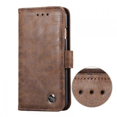 Magnetic Flip Phone Case For Samsung /Iphone,Retro Leather Phone Case brown samsung s7 edge