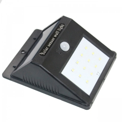 12 LED waterproof solar motion sensor wall light for Outside Wall with Motion Activated Auto On/Off black 12.4cm 0.55w