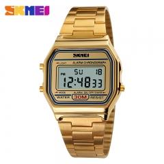 SKMEI 1123 Men Sport Digital Watch Waterproof Calendar Chrono Top Brand luxury Fashion Wristwatches silver