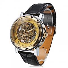 2017 New Luxury Brand Winner Fashion Casual Men's Mechanical Watch Skeleton Watches black