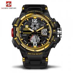 DZ LED Digitale Quartz Militaire Waterproof Sports Watch Digital quartz clock  gift men and women yellow