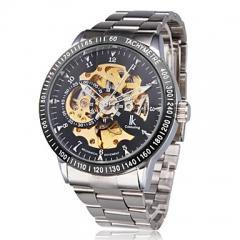 Nieuwe 2017 ik colouring mode mechanische skeleton Mechanical watch for men black