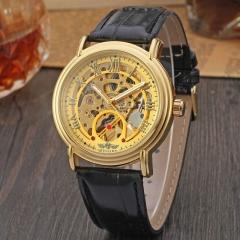 winner roman number of black dial designer luxury brand erkek skeleton man fashion casual golden
