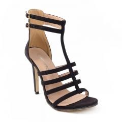 European and American black belt Roman sandals FD697-7 black 35