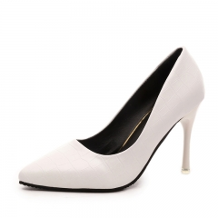 Wild tip fine with sexy high-heeled shoes #888 white 34