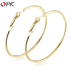 Simple ring large earrings nightclub fashion exaggerated golden earrings anti-allergic earrings gold diameter 60mm