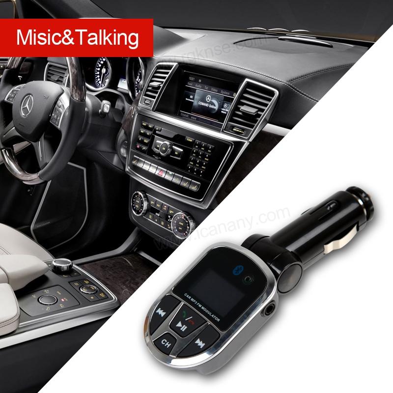 LED Display FM Transmitter Modulator Car MP3 Radio Kit WIth USB Port Black  one size s1