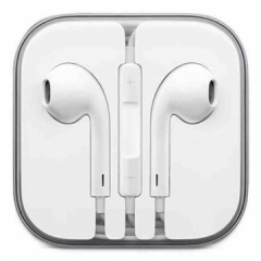 In-Ear Stereo Earphone with Wire Control + MIC Support Hands-free White