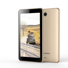 VTWO TICHIPS T702Plus 3G Wifi Android Tablet Tab Pad 7 inch 1GB RAM 16GB ROM Dual SIM Card Phablet Gold