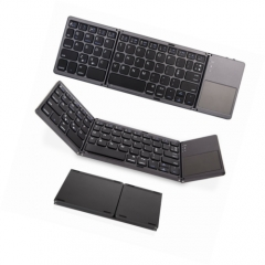 Folding Bluetooth keyboard, folding mini with touchpad keyboard for tablet, Samsung, mobile phone