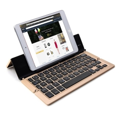 Foldable Wireless Bluetooth Keyboard with Stand for  Android /iOS Tablet Smart phones (Gold)