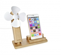 Mobile phone holder with USB fan