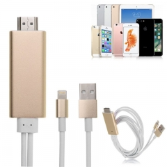 Hdmi for IOS / Apple phone to TV HD video iphone to hdmi HD line for Zipper USB to hdmi HD1080P Blue 2M 3