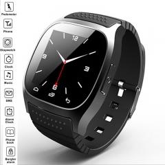 Explosive M26 Smart Bluetooth Watch Multifunction Handsfree Tuner Pedometer Music Player black