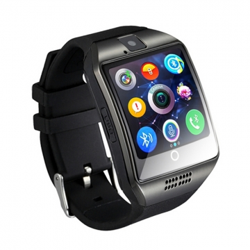 Bluetooth Smart Watch Q18 With Camera Facebook Whatsapp Twitter Sync SMS black