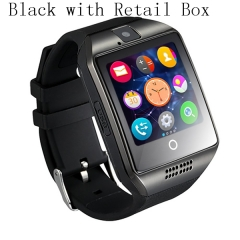 Smart Watch For Android IOS Support TF Card  Sim Bluetooth Smartwatch 1.54'' HD OGS Wrist Bracelet black
