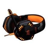 Gaming Headset Over-Ear Headphones Ear Phone Casque Stereo Earphone PC Gaming Headphone Black