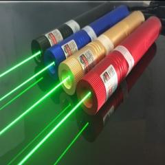 303 Green Laser Pointer Adjustable Focus Lit Match+battery+charger black one size