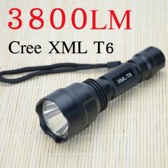 C8 LED Flashlight 3800 Lumens Most Powerful C8 Light Torch with Hidden Strobe black one size