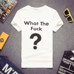 Men summer letter printed short sleeve t-shirt shirt white s