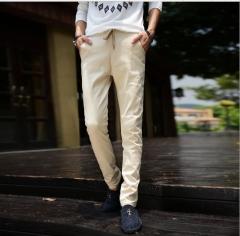 Fashion Man Casual Trousers Long Pants Khaki S