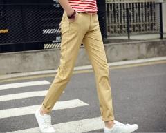 Man Trousers Fashion Man Long Pants khaki S 28