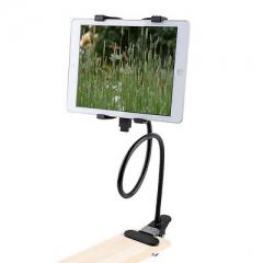 360 Rotating Flexible Desktop Stand Lazy Bed Tablet Holder Mount black one size