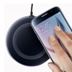 New QI Wireless Charger Charging Pad Dock Plate For Samsung Galaxy S6 S7 Edge black one size