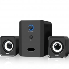 Mini wired Portable combination speaker Column computer speaker 2.1 USB channels for PC Black D-201