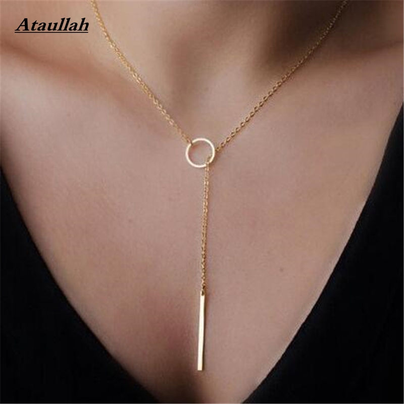 New fashion simple circle and pendants necklace simple necklaces for image image image image aloadofball Images