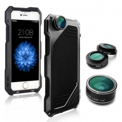 Apple Cell Phone Case with 3 in 1 HD Lens Alloy 3-Anti for 6plus/6Splus Black 172mm*87.6mm*11.1mm