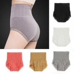 Usexy High Waist Briefs Body Shapers Slimming Shapewear Tummy Control Panties Knicker gray f