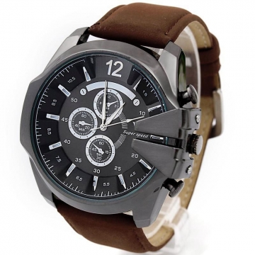 Fashion Leather Belts Stylish Luxury brands watches business men Simple and elegant wristwatches A