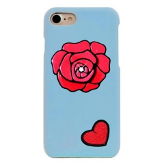 Case for iphone 6 6s Thermal induction Discoloration DIY rose flower love heart fashion shockproof blue iphone6/6s