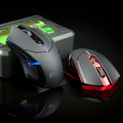 ET X-08 2400 DPI Adjustable 2.4G Wireless Gaming Mouse 7 Buttons with Scroll Wheel LED Optical Mice black wireless